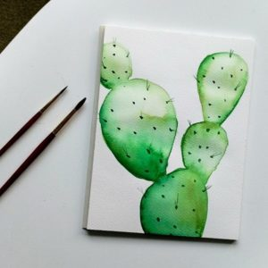 AKWARELE | Jak namalować kaktusa? SPEED ART