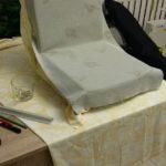 Renowacja krzesła prl