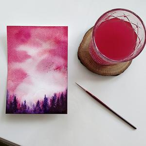 AKWARELE | Jak namalować mistyczny las?