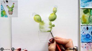 jak namalowac kaktusa