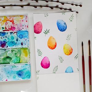 AKWARELE | Jak namalować pisanki?