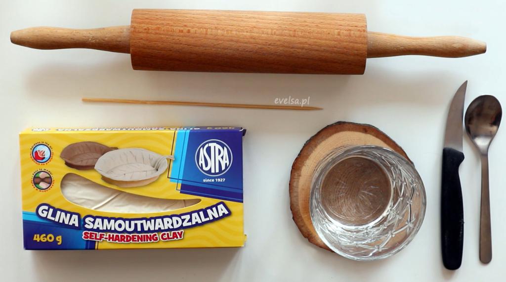 paleta do akwareli z gliny samoutrwaldzalnej DIY