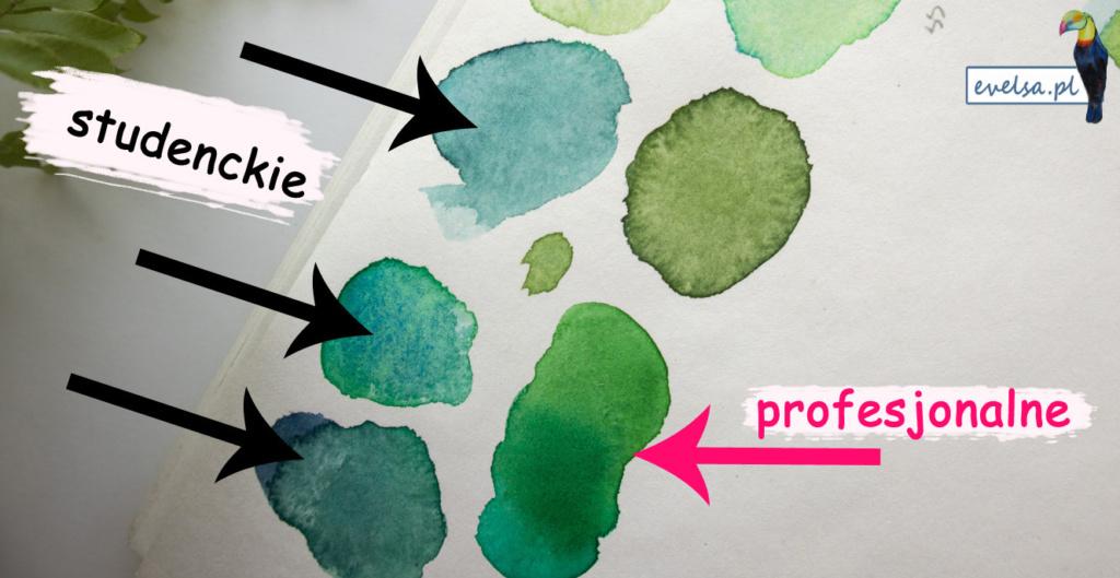 profesjonalne farby akwarelowe tanie akwarele