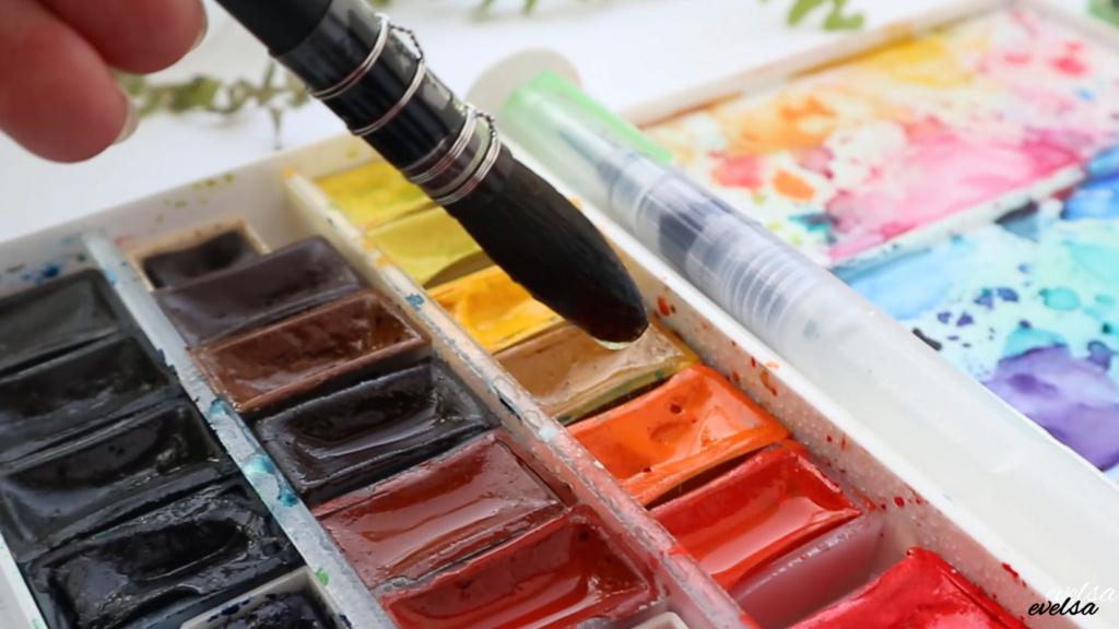 nauka malowania akwarelami