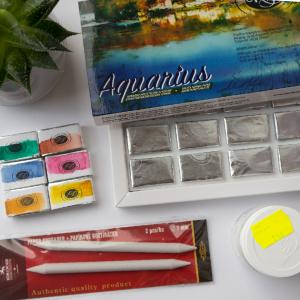 Akwarele Aquarius pierwsze wrażenie | Mini Haul Plastyczny z maluje.pl