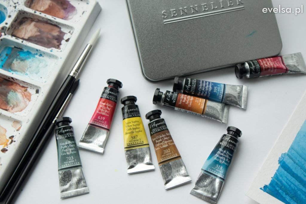 sennelier l aquarelle akwarele opinia recenzja swatch kolory-11