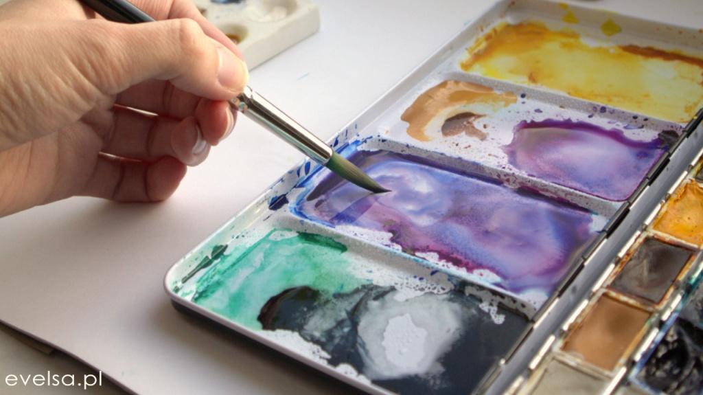 Jak mieszać kolory? AKWARELE dla poczatkujacych nauka malowania