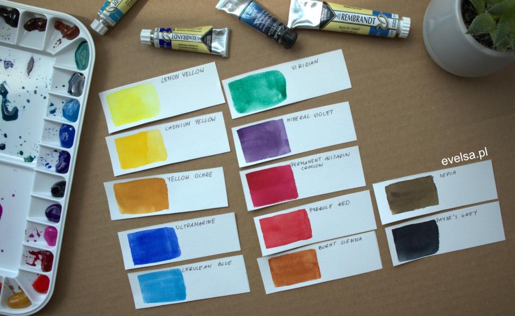 pierwsza paleta do akwareli zestaw kolor farby akwarelowe