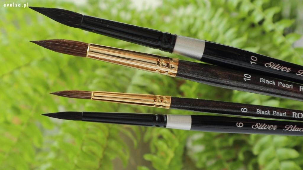 pedzle silver brush black velvet pedzle do akwareli recenzja review opinion