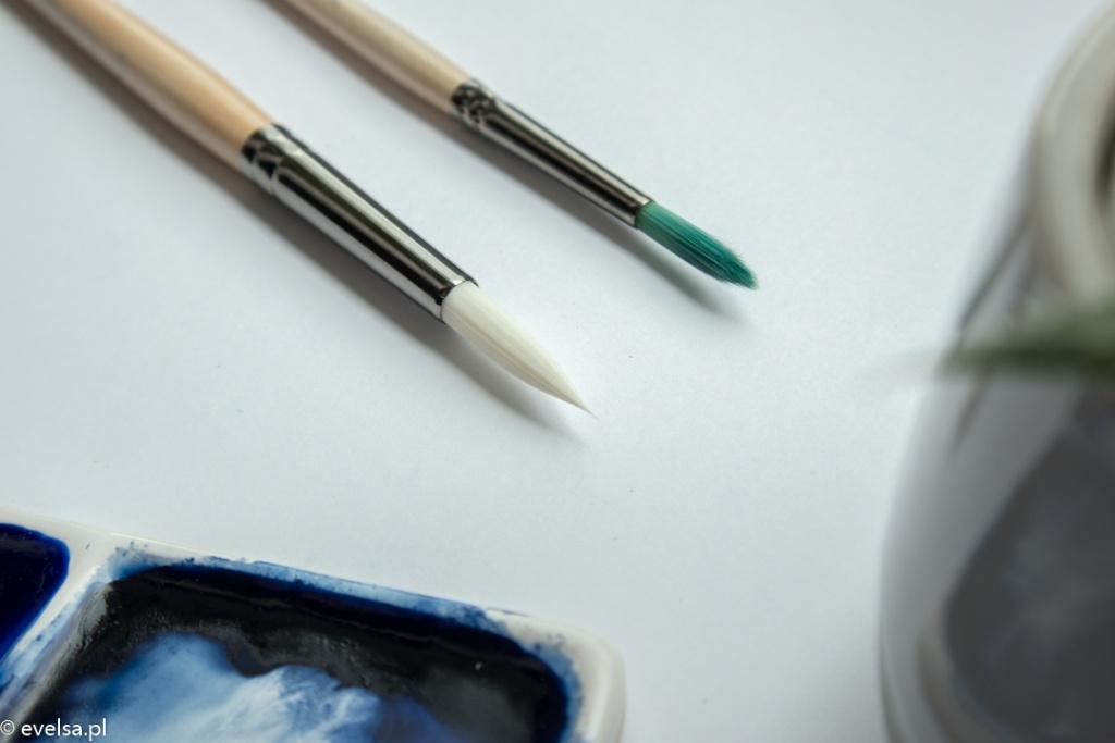 silver pearl roman szmal silver akwarele pedzle brush