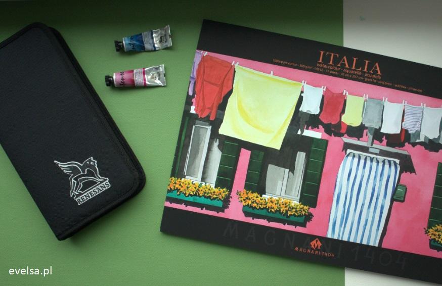 etui piornik na pedzle do akwareli akwarela akwarele case holder brush watercolor blok papier italia