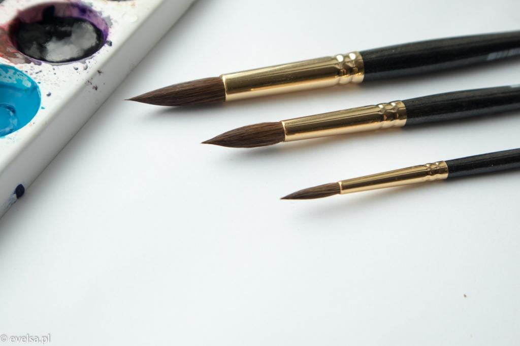 black pearl roman szmal pedzle brush akwarele akwarela watercolor-2