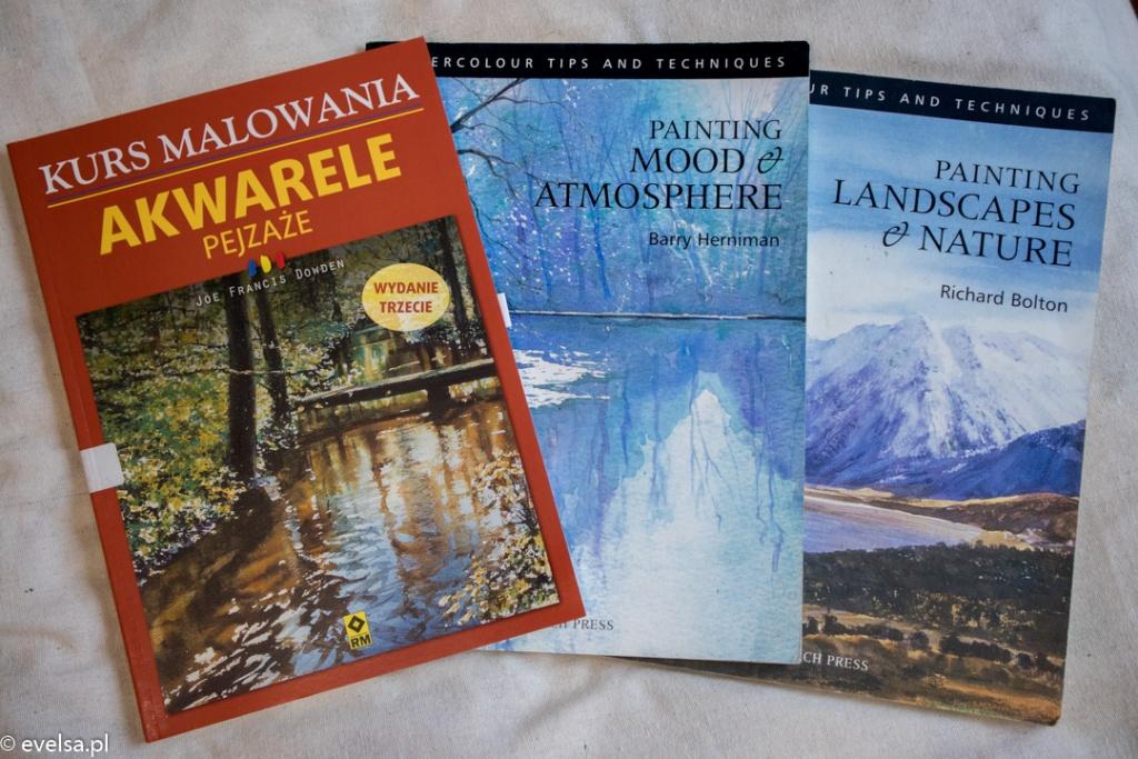 Książki o akwarelach dla średniozaawansowanych