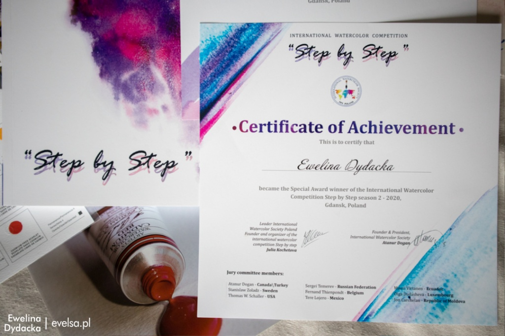 ewelina dydacka special award winner step by step watercolor contest