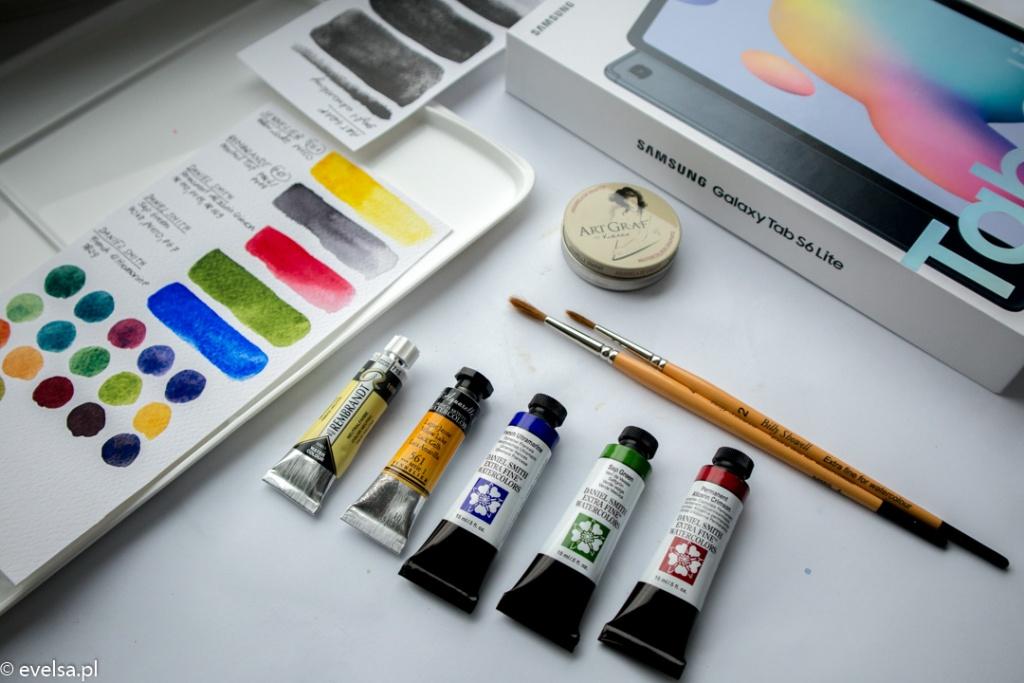 Zakupy plastyczne papier pędzle farby grafit maluje.pl