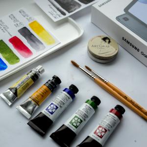 Zakupy plastyczne – papier, pędzle, farby, grafit