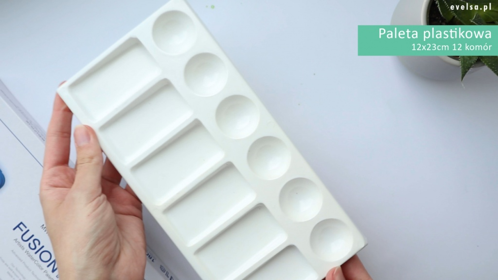 paleta do akwareli paleta malarska plastikowa