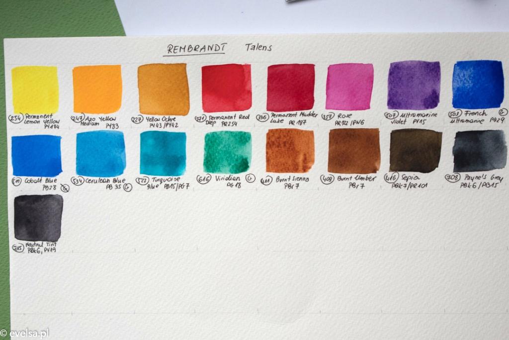 kolory Rembrandt royal talens akwarele