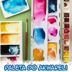 Paleta do farb akwarelowych | Plastikowa, czy porcelanowa?