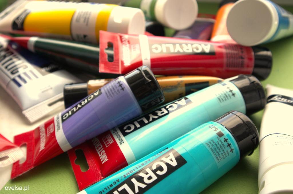 farby akrylowe nauka malowania